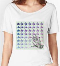 Green Birds Women's Relaxed Fit T-Shirt