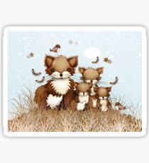 Little Foxes Sticker