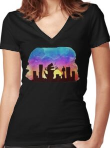 The beauty of a sunset Women's Fitted V-Neck T-Shirt