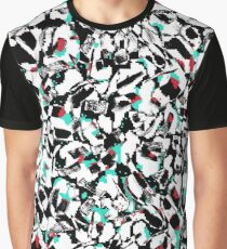 Abstract Brushed Print Graphic T-Shirt