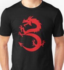 Red Dragon Prancing Unisex T-Shirt