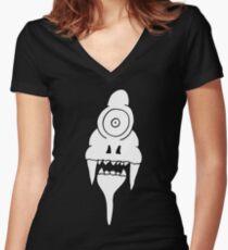 ICE CREAM SKULL Women's Fitted V-Neck T-Shirt