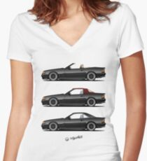 Classic in black Women's Fitted V-Neck T-Shirt