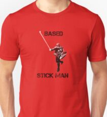 Based Stick Man - Fade Unisex T-Shirt