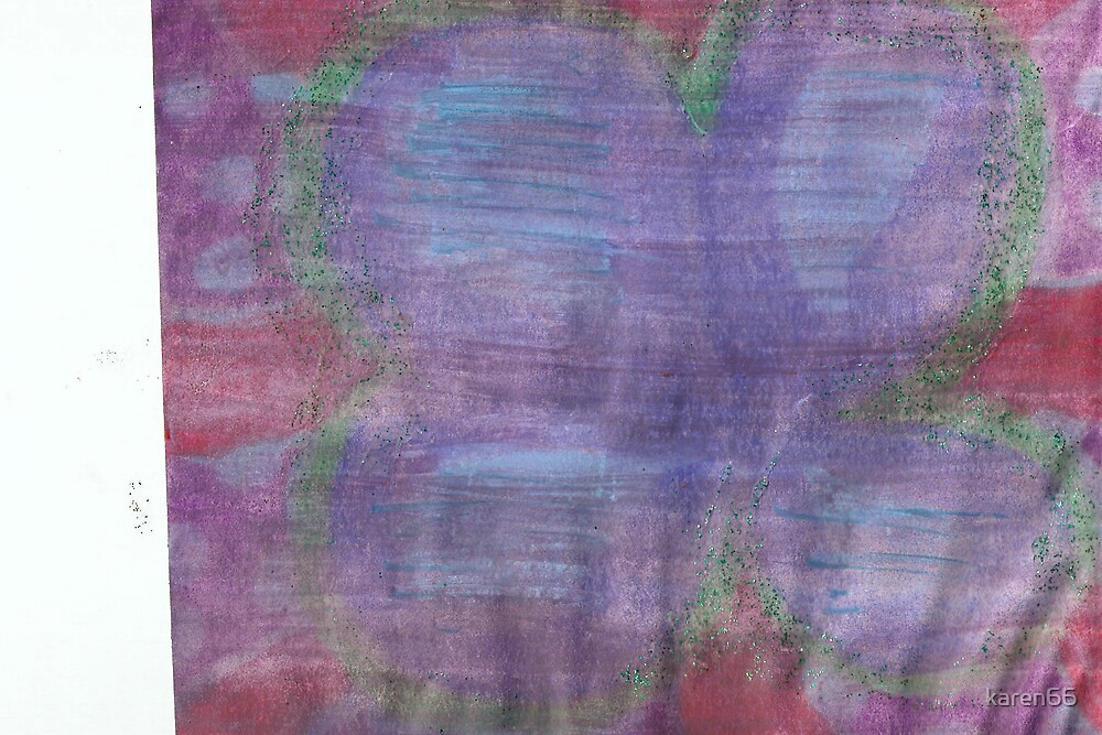 Abstract Blue Flower by karen66