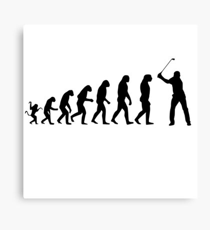Golf Evolution Canvas Print
