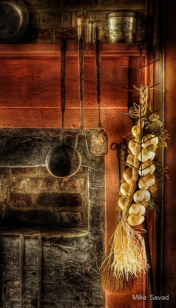 Still life of garlic by Michael Savad