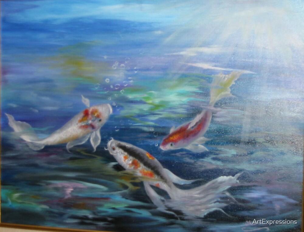 Lake Placid Koi Pond by ArtExpressions
