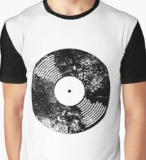 Distressed Faded Vinyl Graphic T-Shirt