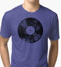 Distressed Faded Vinyl Tri-blend T-Shirt
