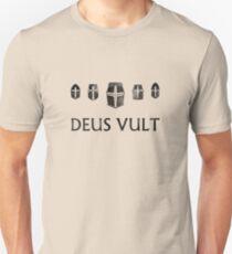 Deus Vult Helm Formation - Dark Unisex T-Shirt