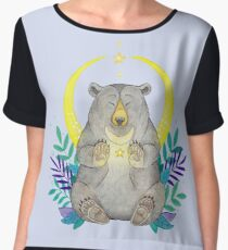 Moon Bear Women's Chiffon Top
