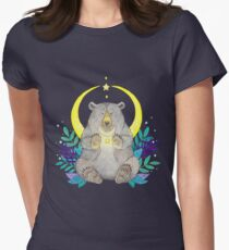 Moon Bear Womens Fitted T-Shirt