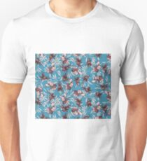 iris orchid japanese patter Unisex T-Shirt