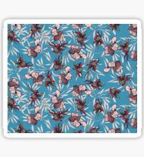 iris orchid japanese patter Sticker