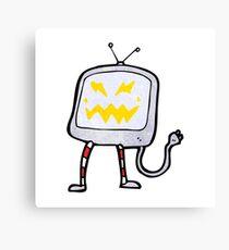 cartoon tv monster Canvas Print