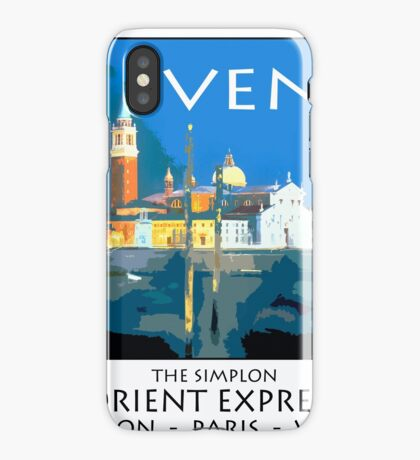 Vintage travel poster - Venice iPhone Case/Skin