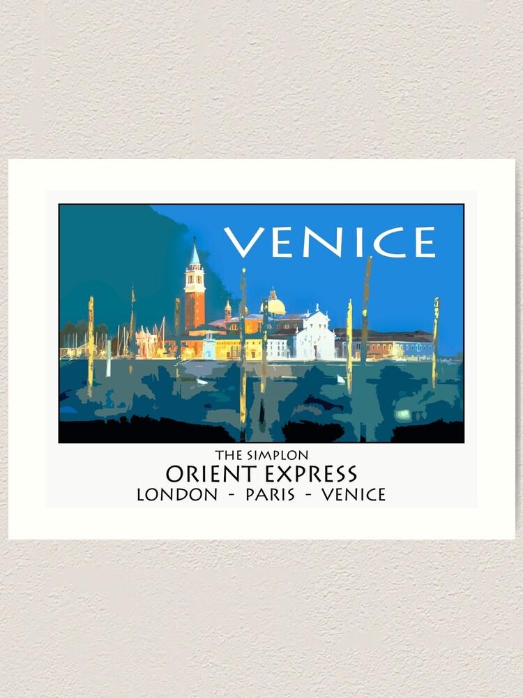 Alternate view of Vintage travel poster - Venice Art Print