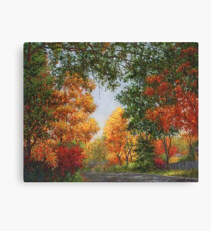 Autumn in the Suburbs Canvas Print
