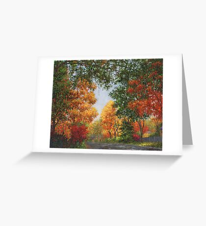Autumn in the Suburbs Greeting Card