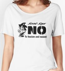 Sonic the Hedgehog - Sonic Says NO To fascism and racism! Women's Relaxed Fit T-Shirt