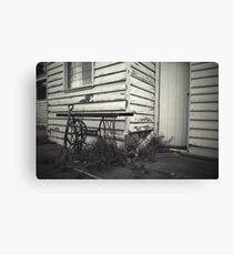 singing in the outhouse Canvas Print