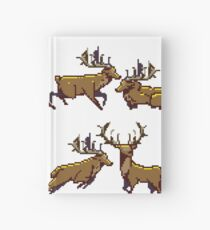 Pixel Stag (Pattern) Hardcover Journal
