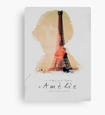 Amélie, Fine Art print, Jean-Pierre Jeunet, Audrey Tatou, giclee French movie poster, old classic cinema, Amelie Canvas Print