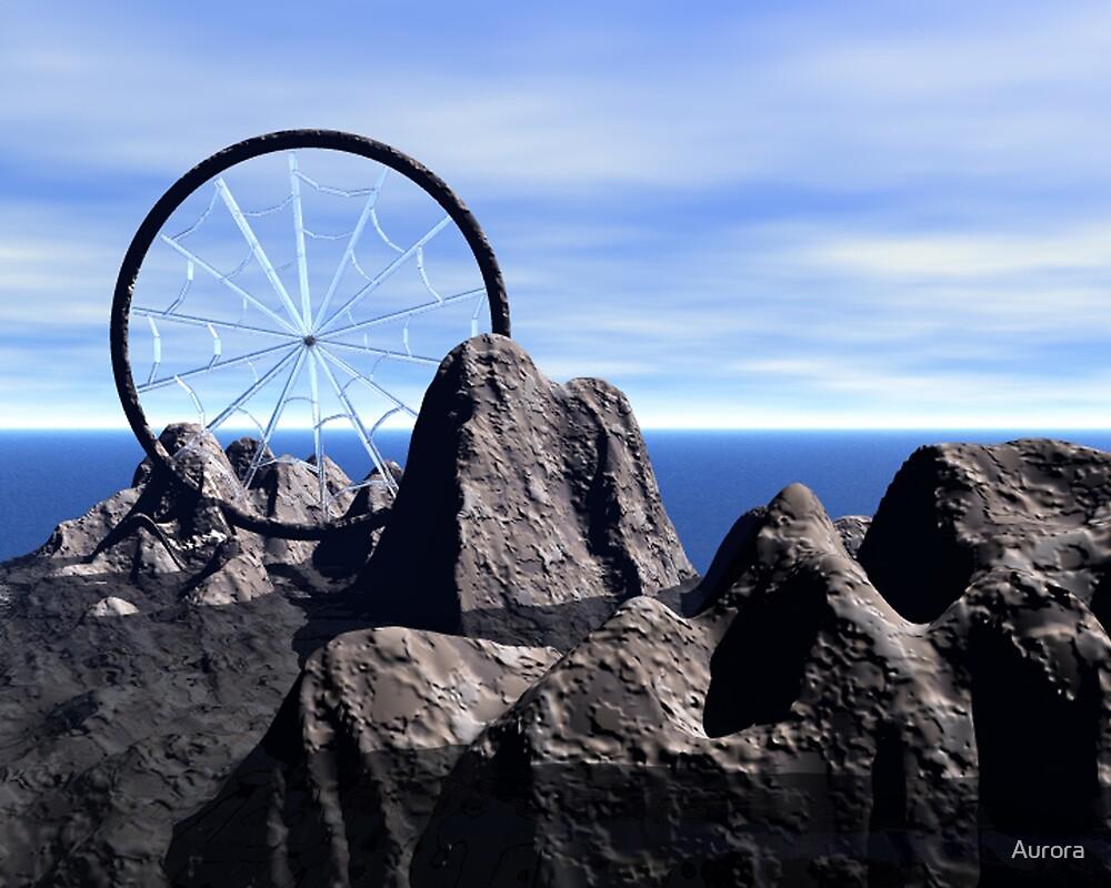 Dreamcatcher on stone by Aurora