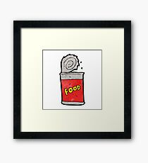 cartoon canned food Framed Print