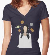 LOVE-Lana Del Rey Women's Fitted V-Neck T-Shirt