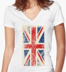 United Kingdom! Women's Fitted V-Neck T-Shirt