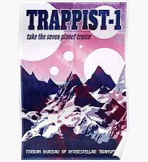 Trappist-1 Sci-Fi Space Tourism Poster