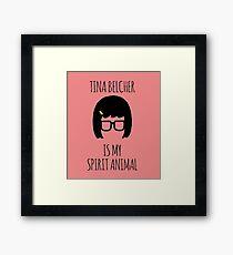 Tina Belcher Spirit Animal Framed Print