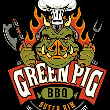 Green Pig BBQ by restartaggain