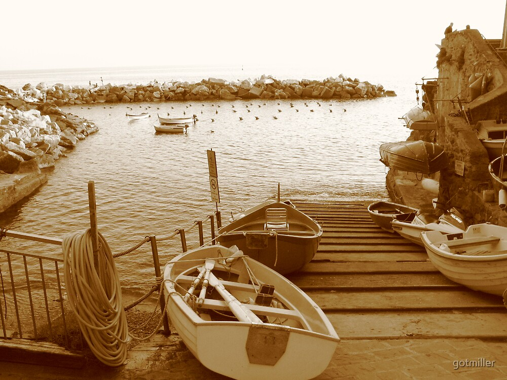 Boats at the Dock by gotmiller