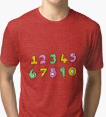 cartoon numbers Tri-blend T-Shirt