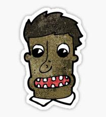 cartoon mna with shocked face Sticker