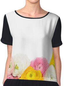 Beautiful floral composition Chiffon Top