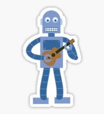Ukulele Robot Sticker