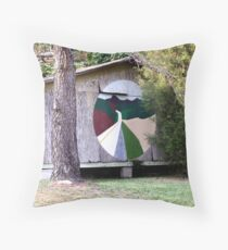 Painted House Throw Pillow
