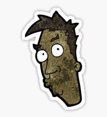 cartoon curious man Sticker