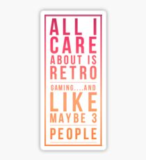 Retro Gaming Funny Design Sticker