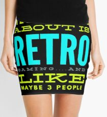 Retro Gaming Funny Design Mini Skirt