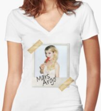 Mars Argo #1 Women's Fitted V-Neck T-Shirt