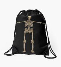 3D rendering of human skeletal system, front view. Drawstring Bag