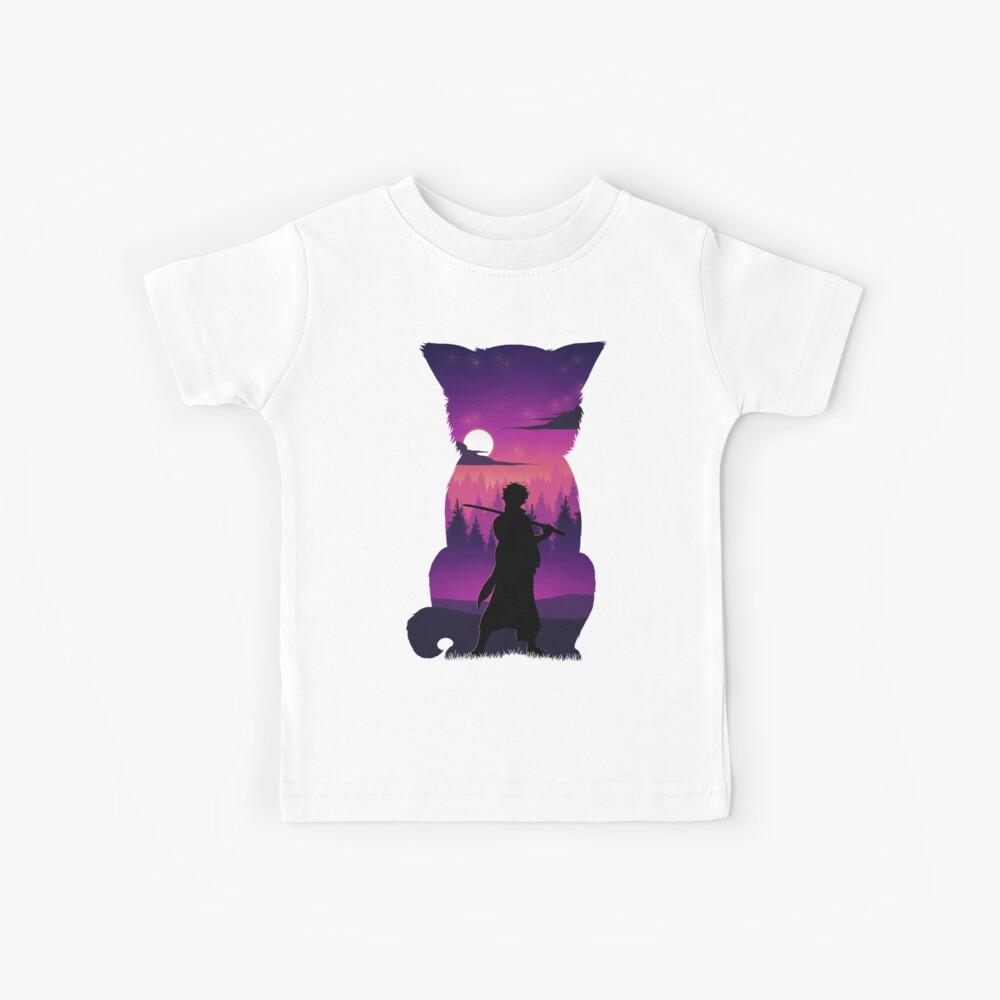 Gintoki Silhouette Kinder T-Shirt
