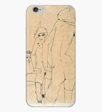 Egon Schiele - Schiele With Nude Model Before The Mirror, 1910 iPhone Case
