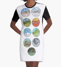 Star Wars Planets Graphic T-Shirt Dress