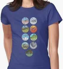 Star Wars Planets Womens Fitted T-Shirt